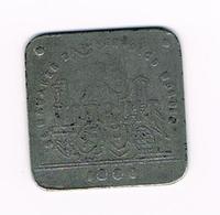 &-   1 BROODKAART   VOORUIT  1880 DE NAMAKER ZAL VERVOLGD WORDEN - Monedas / De Necesidad