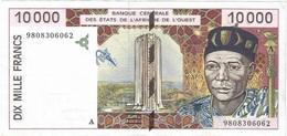 África Del Oeste - West African States 10.000 Francs 1998 Costa De Marfil Pk 114 A.f A, Firmas Niamien Ngoran Y Charles - Estados De Africa Occidental