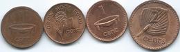 Fiji - 1 Cent - 1981 (KM39); 1992 (KM49a); 2006 (KM49b); 2 Cents - 1992 (KM50a) - Figi