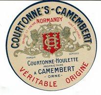 """Et. """" COURTONNE'S - Camembert """" Véritable Origine - Fromage"""