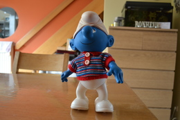 Grande Figurine Schtroumpf Vintage Fiba 1983 - Smurfen