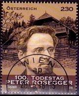 Austria Österreich 2018  100. Todestag Von Peter Rosegger. USED / O / GESTEMPELT - 1945-.... 2. Republik