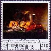 Austria Österreich 2018 Jan Davidsz. DHeern - Stillleben USED / O / GESTEMPELT - 1945-.... 2. Republik