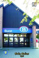 Set 8 Cartes Postales, Bâtiments , Gares, Belgium, Burst, Train Station - Stazioni Senza Treni