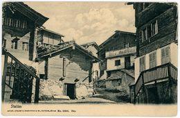 CPA Suisse Switzerland Stalden Valais Chalets 1900 - VS Valais