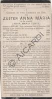 Doodsprentje Zuster/Soeur Anna Maria Torfs °1869 Berlaar †1912 Reninge (B225) - Obituary Notices