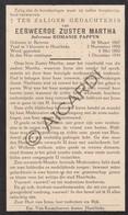 Doodsprentje Zuster/Soeur Martha / Romanie Pappyn °1867 Beveren †1934 Harelbeke (B173) - Obituary Notices