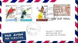 Belgique. TP 1204 + 1117 à 1120  L. Avion B.P.S. 11 > Baltimore, USA  1962 - Belgio