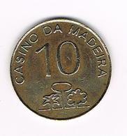 //   PORTUGAL  10 CASINO DA MADEIRA - Casino