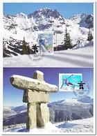 Liechtenstein 2010, Postfris MNH, Olympic Games - Maximumkaarten