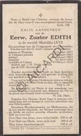Doodsprentje Zuster/Soeur Edith / Mathildis Leys °1875 Tremelo †1929 Leuven   (B216) - Obituary Notices