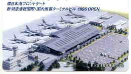 AVION - AVIATION - PLANE - AEROPORT - AIRPORT - ESPACE - Télécarte Japon - Airplanes