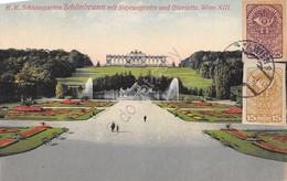 Cartolina Wien Schonbrunn Mit Neptungrotte Illustata 1920 Stamps 15 E 25 Heller - Cartoline