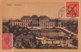 Cartolina Wien Belvedere 1919 Stamps 10 E 6 Heller - Cartoline