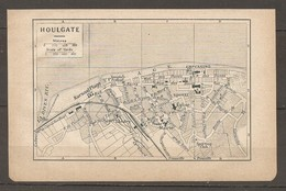 CARTE TOPOGRAPHIQUE 1924 HOULGATE CALVADOS (14) KURSAAL PLAGE CASINO LANDRY NORMANDIE - Cartes Topographiques