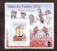 BLOC CNEP 2012 N° 61 ** SALON DU TIMBRE PARIS  PLANETE TIMBRE NAPOLEON CHATEAU DE VINCENNES AVEC TP MONTIMBRAMOI - CNEP