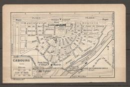 CARTE TOPOGRAPHIQUE 1924 CABOURG CALVADOS (14) CASINO GARE DIGUE TRAMWAY NORMANDIE - Cartes Topographiques
