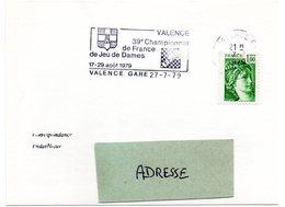 HERALDIQUE = 26 VALENCE 1979 = FLAMME  SECAP Illustrée D'ARMOIRIES + 39e CHAMPIONNAT De FRANCE / JEU DE DAMES - Other