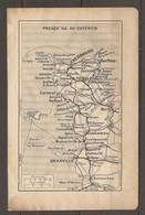 CARTE TOPOGRAPHIQUE 1924 PRESQU'ILE DU COTENTIN CHERBOURG JERSEY GRANVILLE MANCHE (50) NORMANDIE - Topographical Maps