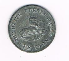 //   PENNING DELHAIZE FRERES  LE LION   GOED VOOR 5 ZEGELS BON POUR 5 TIMBRES - Firma's