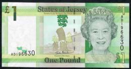 JERSEY P32a 1 POUND #AD = FIRST PREFIX 2010 UNC. - Jersey