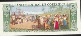 COSTA RICA   P236d  5   COLONES   1989    UNC. - Costa Rica