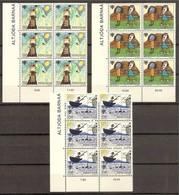 1979 FAROER Faroe Danimarca Denmark ANNO DEL FANCIULLO - YEAR OF THE CHILD 6 Serie Di 3v. MNH** (39/41) In Blocco - Danimarca