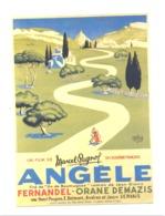 """Reproduction D'une Affiche De Cinéma - """" Angèle """" Film De Marcel Pagnol Avec Fernandel (van 2) - Affiches Sur Carte"""