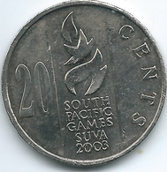 Fiji - Elizabeth II - 2003 - 20 Cents - South Pacific Games - KM95 - Figi