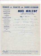 81-N.Malzac..Verres & Glaces De Saint-Gobain...Albi  (Tarn) 1956 - Francia