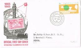 32797. Carta GIBRALTAR 1965. International Telecommunication Union. U.I.T. - Gibraltar