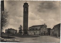 Caldogno (Vicenza): Piazza. Viaggiata 1954 - Vicenza