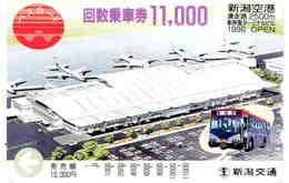 AVION - AVIATION - PLANE - AEROPORT - AIRPORT - ESPACE - Carte Prépaid Japon - Avions