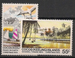 Cocos - 1979 - N°Yv. 38 à 39 - Noel - Neuf Luxe ** / MNH / Postfrisch - Cocos (Keeling) Islands