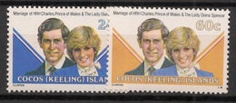 Cocos - 1981 - N°Yv. 73 à 74 - Princess Diana - Neuf Luxe ** / MNH / Postfrisch - Cocos (Keeling) Islands