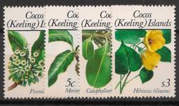 Cocos - 1988 - N°Yv. 188 à 191 - Fleurs - Neuf Luxe ** / MNH / Postfrisch - Cocos (Keeling) Islands