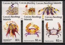 Cocos - 1992 - N°Yv. 255 à 260 - Crabes - Neuf Luxe ** / MNH / Postfrisch - Cocos (Keeling) Islands