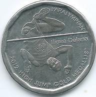 Fiji - 2013 - 50 Cents - Iliesa Delana - Paralympic Gold High Jump Medallist - KM515 - Figi