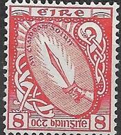 IRELAND 1922 Sword Of Light - 8d - Red MNH - 1922-37 Stato Libero D'Irlanda