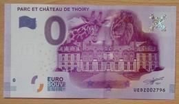 Billet Touristique 0 Euro  Parc Et Château De Thoiry 2016 - EURO