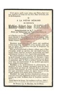 D 753. MATHIEU -HUBERT-JEAN FLUCHARD - élève Au Petit-Séminaire Saint-Trond - °BAELEN-SUR-VESDRE 1910 /+SAINT-TROND 1929 - Images Religieuses