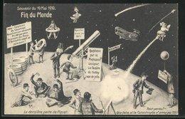 AK Fin Du Monde 1910, Ende Der Welt, Halley`scher Komet - Astronomy