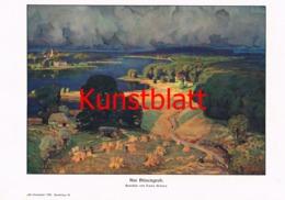 685 Hans Busse Hünengrab Kunstblatt 1910 !!! - Decretos & Leyes