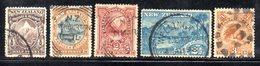 APR830 - NEW NUOVA ZELANDA 1898 , Cinque Valori Diversi Usati . - 1855-1907 Colonia Britannica