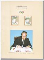 Zuid Korea 1984, Postfris MNH, Olympic Games 1988 In Spec. Map - Korea (Zuid)