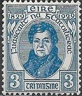 IRELAND 1929 Centenary Of Catholic Emancipation - 3d  Daniel O'Connell MNH - 1922-37 Stato Libero D'Irlanda