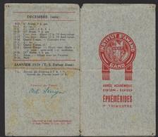 GENT * GAND * INSTITUT ST. AMAND * EPHEMERIDES * EFEMERIDEN * ANNEE 1928-1929 * ZIE SCANS * TOE = 14 X 8 CM - Announcements