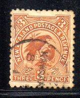 APR840 - NEW NUOVA ZELANDA 1898 , 3 P. Usato Con E Senza Filigrana (74+84) . Pieghetta . - 1855-1907 Colonia Britannica