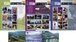 Antigua - 2004 - 200 Years Of Steam Locomotives - Set Of 3 Mint Sheetlets + 3 Souvenir Sheets - Antigua And Barbuda (1981-...)