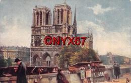 PARIS-75-Cathédrale Notre-Dame 1163-1260 Flèche Tombée 15-04-19-Eglise-Religion-Kiosque Bouquiniste Livre-Tuck-Oilette - Eglises
